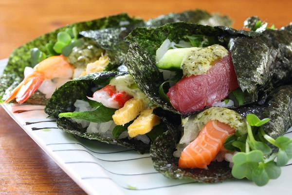 マヨバジル手巻き寿司