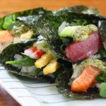 マヨバジルの手巻き寿司